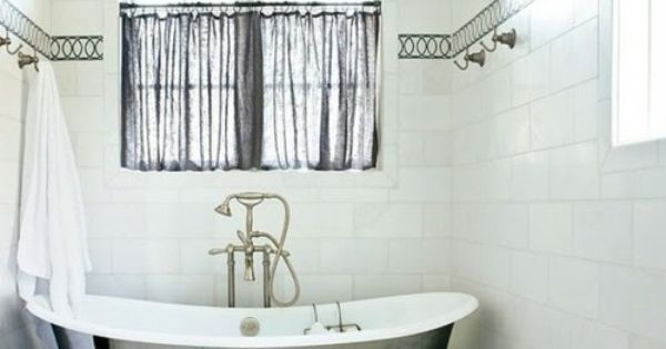 White Bathroom + This Tub... via COCOCOZY: SEE THIS HOUSE: DREAMY RUSTIC