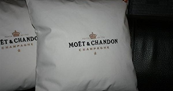 White Lounge Champagne Moet Chandon Ice Imperial Pillow Cushion