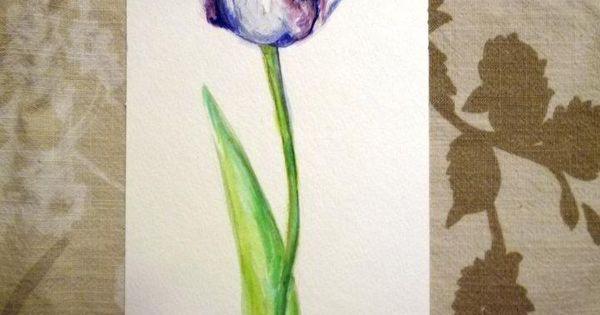 Watercolor Tulip Art Pinterest Watercolor Tattoo
