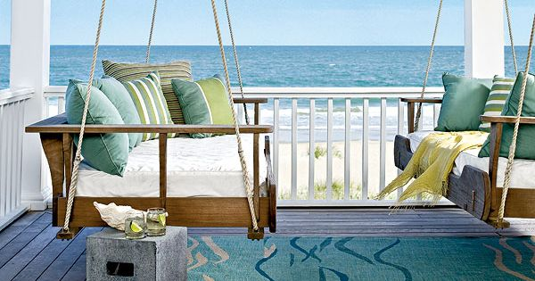 Seaside Cottage, dueling porch swing beds