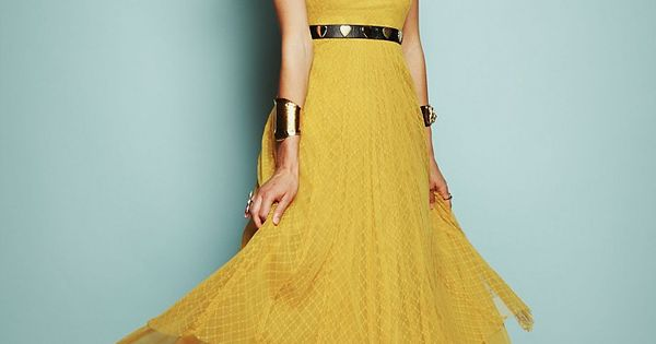 Spencer's Yellow Dress: Free People: Pretty Little Liars Finale Fashion