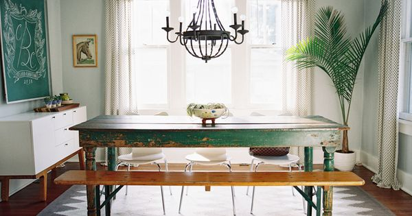 A bright and beautiful home in nashville design sponge Pretty dining rooms