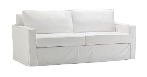 West Elm White Slipcover For Henry Sofa Furniture