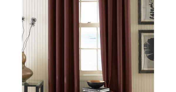 Curtainworks Montery Solid Semi Sheer Grommet Single Curtain Panel