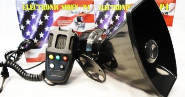 Police Siren 5 Tone Pa System 60w Emergency Sound By Gte 28 99 Important This Is Not A Replacement For Pr Home Security Systems Police Siren Video Security