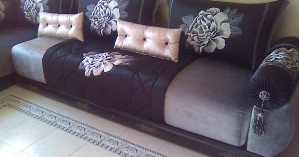 Salon marocain salons marocains moroccan living room - Salon marocain bleu roi ...