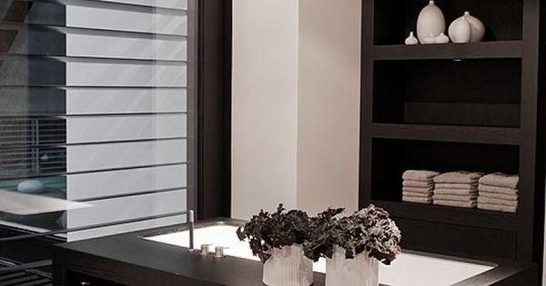 Indeling is cool alleen het hout te donker badkamer pinterest badkamer donker en hout - Badkamer donker ...