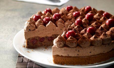 Schoko Kirsch Torte Rezept Schoko Kirsch Torte Schoko Sahne Torte Und Schoko