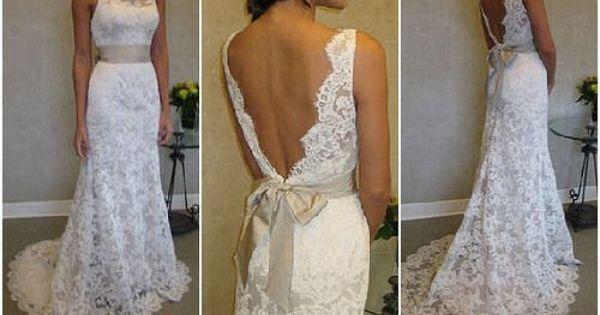 Lace wedding dress by Jim Hjelm