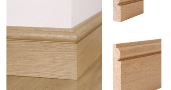 Solid oak torus skirting board and architrave zoccolino
