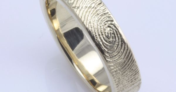 fingerprint wedding band, cool idea
