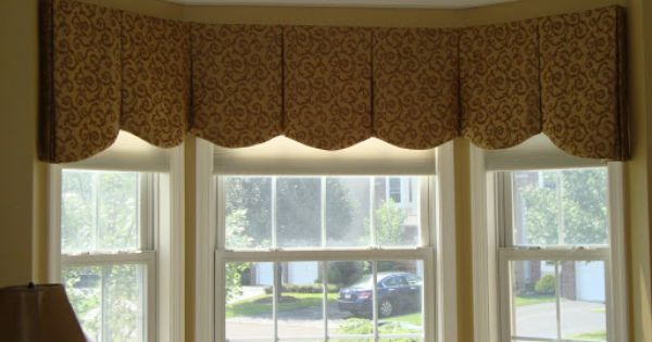 Inverted Box Pleated Valance Bay Window Curved Box