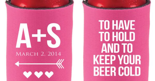 Koozies to have and by siphiphooray koozies wedding party favors