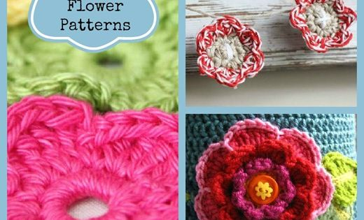 12 Crochet Flower Patterns..!