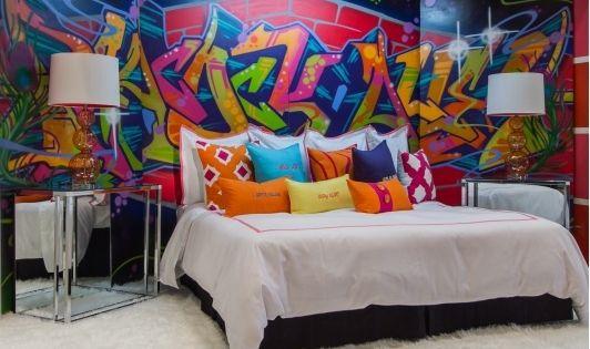 Graffiti style bedroom bedroom design ideas home and for Graffiti bedroom designs