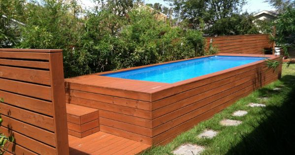 Trash Container Converted To Swimming Pool Diy Projects Pinterest Recycled Materials