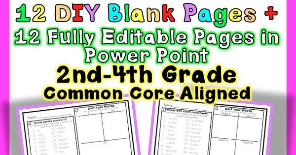 editable common core foundational skills word work phonics spelling homework activities. Black Bedroom Furniture Sets. Home Design Ideas