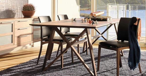 moderne esszimmer möbel sets- holztisch und lederstühle   esstisch, Esstisch ideennn