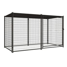 Shop Blue Hawk 10 Ft X 5 Ft X 6 Ft Outdoor Dog Kennel Preassembled Kit At Lowe S Dog Kennel Outdoor Dog Kennel Dog Cages