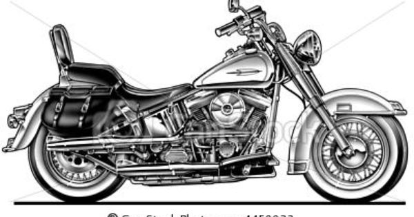 Harley Davidson Clip Art: Harley Hawg Motorcycle