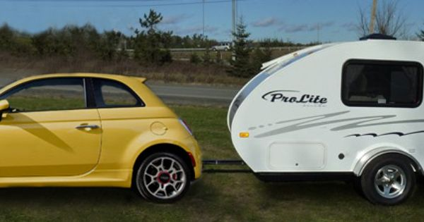 The Fiat 500 And The Travel Trailer Suite Roulottes Prolite
