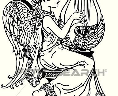 Image Result For Lyre Art Angel Wings Art Art Drawings Sketches Art