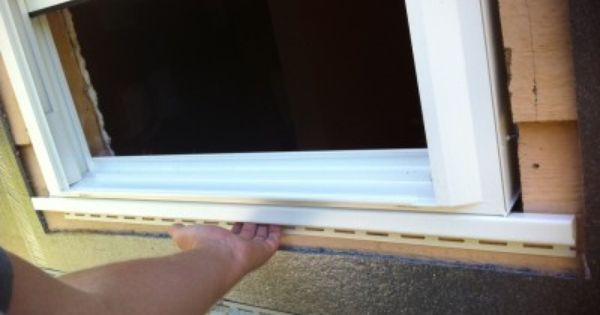 Install J Channel Around Windows And Doors For Vinyl
