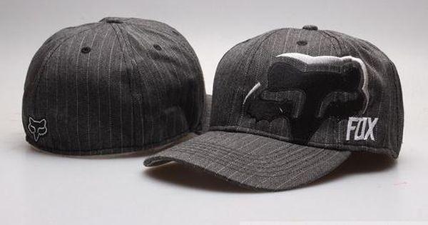 Fox Fashion Caps Stretch Caps Full Closed Hats 005 Grey Fashion