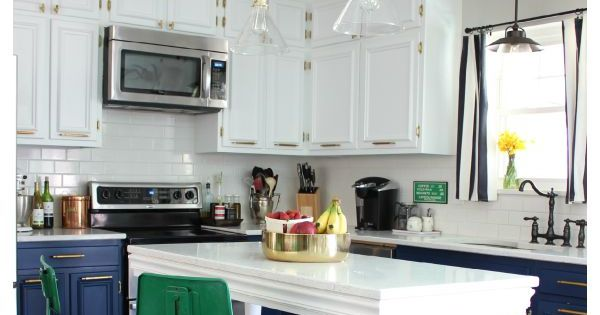 Navy And White Modern Kitchen More Kelly Green Ideas