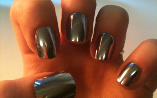 Sephora mirror metallic nail polish.