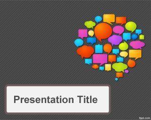 Communications Strategy Powerpoint Template Diapositivas Para