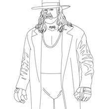 Wrestler Undertaker Coloring Page Coloring Page Sport Coloring