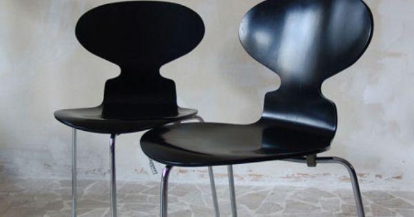 Ant arne jacobsen seating pinterest arne jacobsen for Chaise fourmi jacobsen
