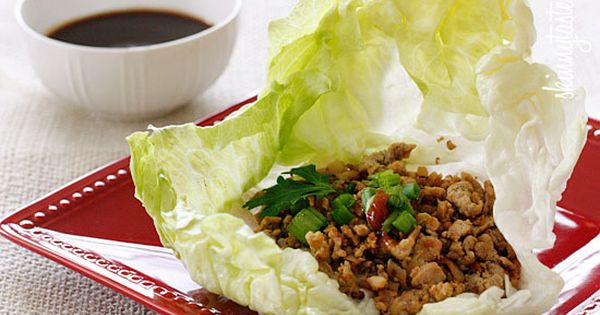 Skinny Chicken Lettuce Wraps