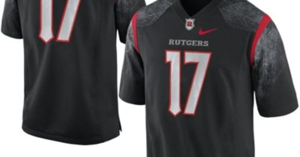 Nike Rutgers Scarlet Knights 17 Game Jersey Black Jersey Rutgers Rutgers Scarlet Knights