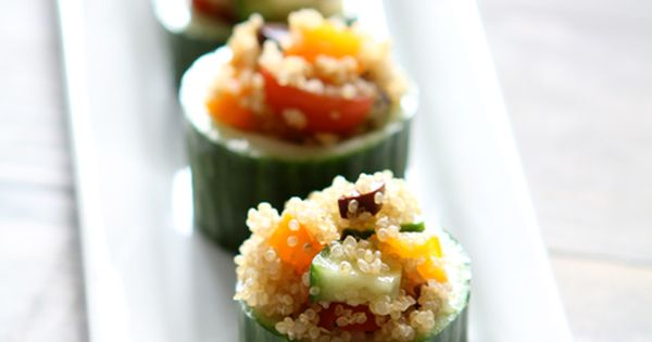 Quinoa stuffed cucumbers by withstyle.me quinoa cucumber appetizer withstyle_me