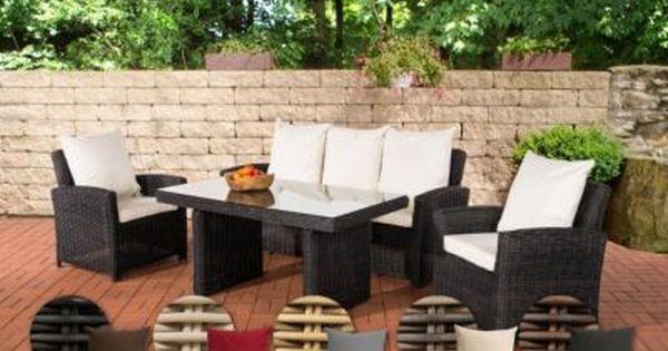 Poly Rattan Garten Sitzgruppe Fisolo 5 Mm Rund Rattan Aluminium Gestell 3er Sofa 2 Sessel Tisch 140 X 80 Cm Je Aussenmobel Gartenmobel Rattan Gartenmobel