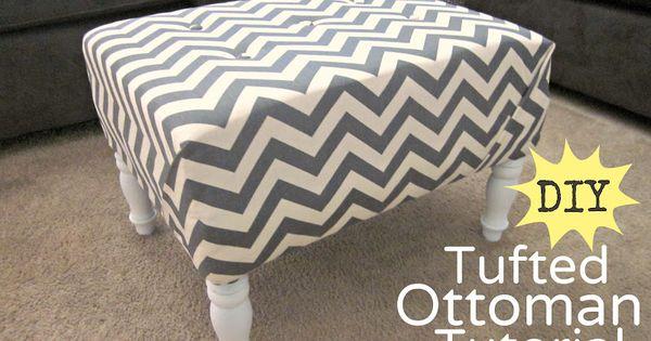 DIY Ottoman : DIY Tufted Ottoman Fabric Recover