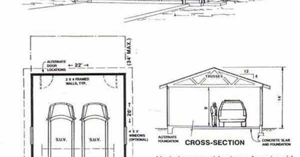 Two car garage plan 572 6 22 39 x 26 39 by behm design for 32 x 40 garage plans