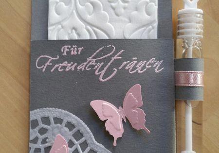 F r freudentr nen inkl weddingbubbles grau rosa freudentr nen rosa und grau - Hochzeitsdeko grau rosa ...