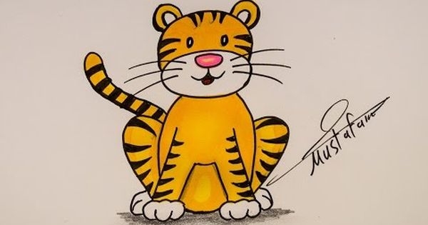 How To Drawing Tiger For Kids
