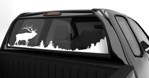 Elk Scenery Decal For Rear Window Hunting Decals For