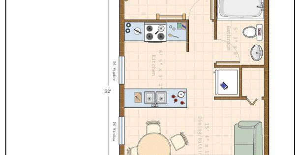 16 x 32 floor plan tiny house pinterest floor plans for 16 x 32 floor plan