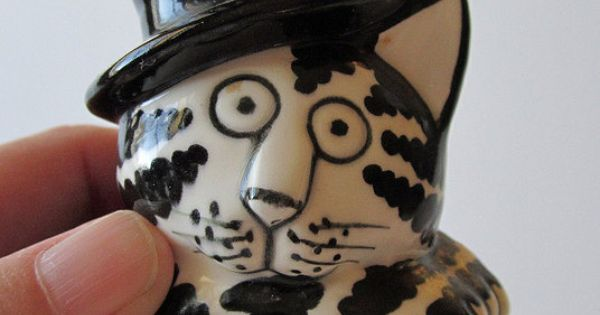 Large Kliban Cat Teapot Tastesetter Sigma By
