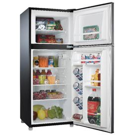 Whirlpool 4 6 Cu Ft Freestanding Mini Fridge Freezer Compartment Black Stainless Steel Energy Star Lowes Com Compact Refrigerator Stainless Steel Refrigerator Mini Fridge With Freezer