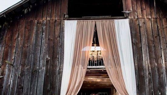 Drakewoodfarm Outdoor Wedding Drapery In Ivory And Beige