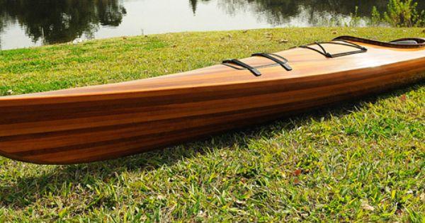 CaptJimsCargo - Cedar Wood Strip Built Kayak Wooden 17' Woodenboat USA, (www.captjimscargo...)