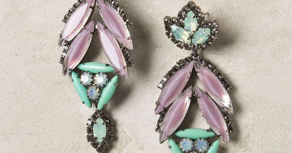 Elizabeth Cole Leila earrings, antique style. Splash of colour.