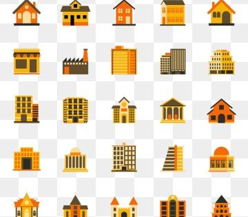 Buildings Flat Icon Colourful Flat Design Icon Set Template Architecture Information Style Png And Vector With Transparent Background For Free Download