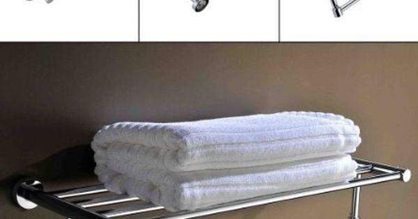 Kinse cromo toalla de barra toallero doble de toalla de for Perchas toallas bano